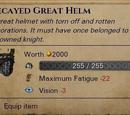 Гнилой украшенный полностью закрытый шлем