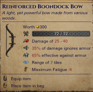Reinforced Boondock Bow