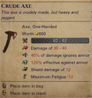 Crude axe 0