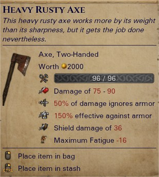 Heavy rusty axe 0