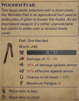 Wooden flail 0