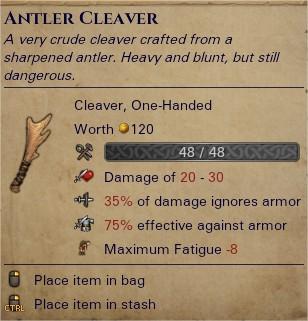 Antler cleaver 0