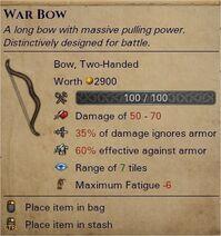 War bow 0
