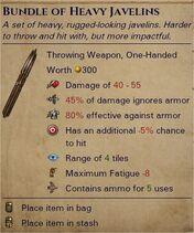 Heavy javelins 0
