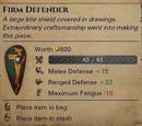 Уникальный большой каплевидный щит