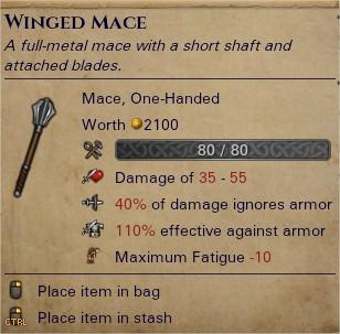 Winged mace 0