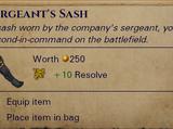 Sergeants Sash