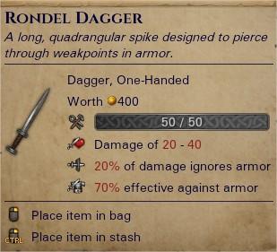 Rondel dagger 0