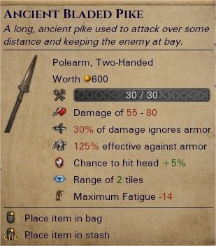 Ancient bladed pike 0