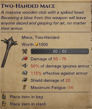 Two-handed mace 0