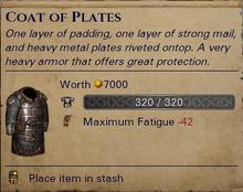 Coat of Plates