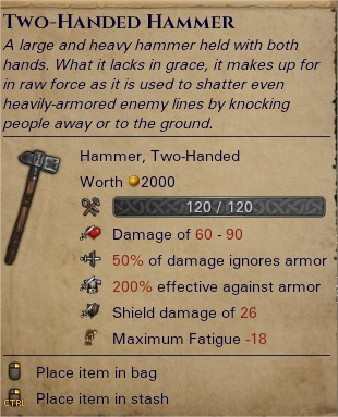 Two-handed hammer 0