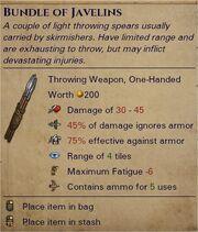 Javelins 0