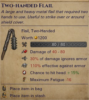 Two-handed flail 0