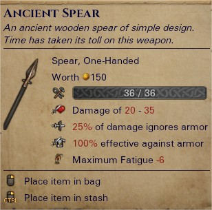 Ancient spear 0