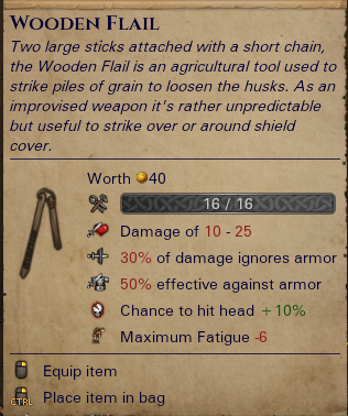 Wooden Flail-0