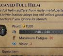 Гнилой полностью закрытый шлем