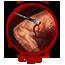 Pierced arm muscle