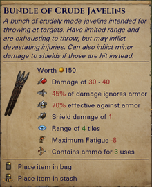 Crude Javelins