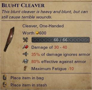 Blunt cleaver 0
