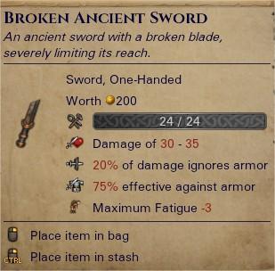 Broken ancient sword 0