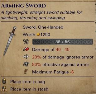 Arming sword 0