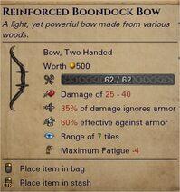 Reinforced boondock bow 0