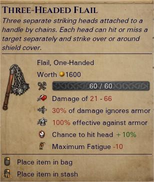 Three-headed flail 0
