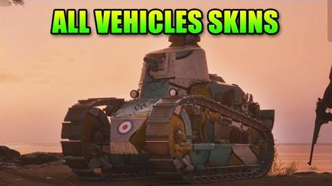 Battlefield 1 All Vehicle Skins