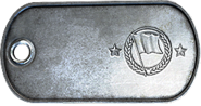 Capture the Flag Winner Ribbon Dog Tag