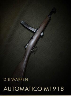 BF1 Kodexeintrag Automatico M1918