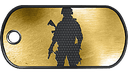 BF3 Golden Soldier Dog Tag
