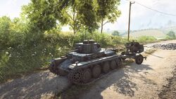 Panzer 38T towing Flak 38 BF5