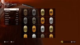 BFV Dog Tag Menu