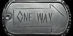 One Way Trip Dog Tag