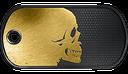 BF3 Golden Skull Dog Tag