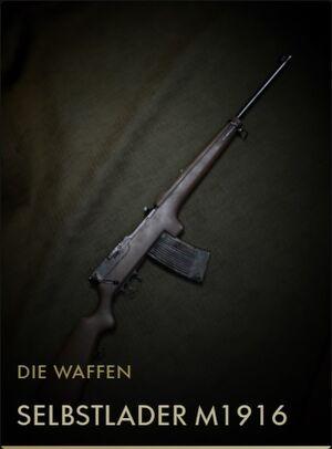 BF1 Kodexeintrag Selbstladeer M1916
