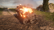 BF1 Romfell Armored Car Destroyed