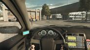 Squad car interior