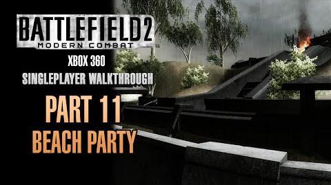 Battlefield 2 Modern Combat Walkthrough (Xbox 360) - Part 11 - Beach Party