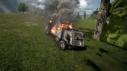 BF1 Artillery Truck Destroyed