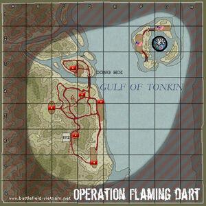 Operation Flaming Dart Map