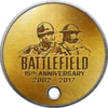 Battlefield 1 15th Anniversary Dog Tag