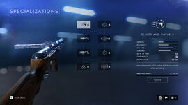 Battlefield V Weapon Specialization