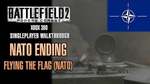 Battlefield 2 Modern Combat Walkthrough (Xbox 360) - NATO Ending - Flying The Flag