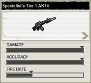 BFH Specialist's Tier 1 AK-74 Stats