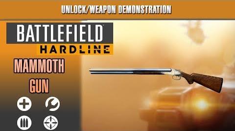 Battlefield Hardline Weapon Demonstration - Mammoth Gun