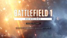 Battlefield 1 Incursions Splash Screen April 10