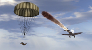BF1942 IJN DUDE EJECTING PARACHUTE