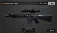 BFP4F M110 Sniper Rifle Render